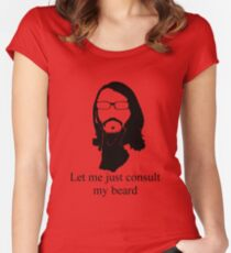 Consult my beard! Women's Fitted Scoop T-Shirt