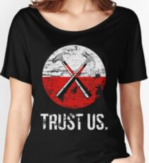 Pink Floyd TRUST US worn Women's Relaxed Fit T-Shirt