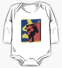 Pop Art Acoustic Guitar Player One Piece - Long Sleeve