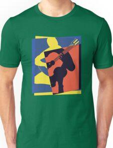 Pop Art Acoustic Guitar Player Unisex T-Shirt
