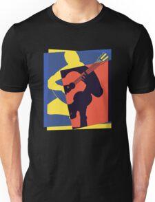 Pop Art Acoustic Guitar Player Unisex T-Shirt