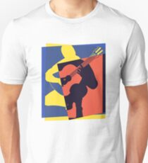 Pop Art Acoustic Guitar Player T-Shirt