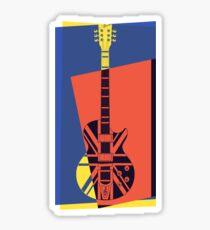 Pop Art British Flag Guitar Sticker