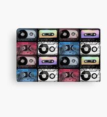 Watercolor cassette pattern Canvas Print