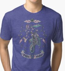 Motocross-Stitch Kitteh Tri-blend T-Shirt