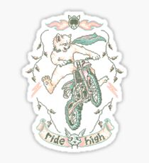 Motocross-Stitch Kitteh Sticker