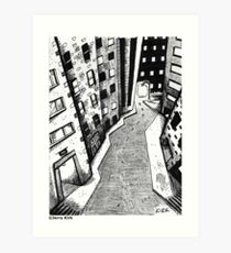 'Crooked Street in a Crooked City' Art Print