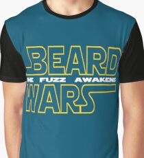Beard Wars The Fuzz Awakens Men's Funny Beard Sci-fi T-Shirt. Graphic T-Shirt