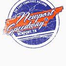 Newport Speedway Vintage Design - Distressed Look by newportspeedway