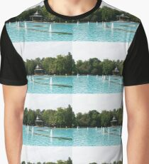 Plovdiv Singing Fountains - Bright Aquamarine Water, Dancing Jets and Music Graphic T-Shirt