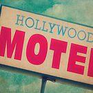 Hollywood Motel Sign by Honey Malek
