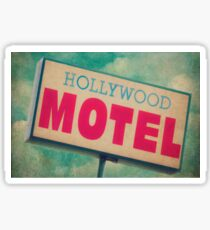 Hollywood Motel Sign Sticker