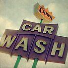 Crown Car Wash Neon  by Honey Malek