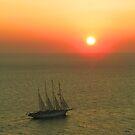 Santorini Sunset by looneyatoms