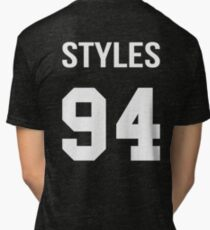 Harry Styles - College style [White] Tri-blend T-Shirt