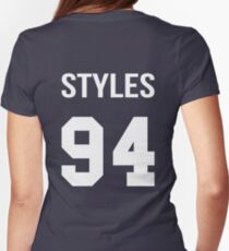 Harry Styles - College style [White] Womens Fitted T-Shirt