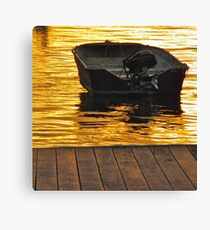 Dinghy at night Canvas Print