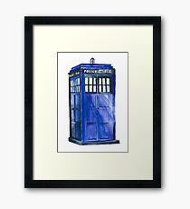 The TARDIS - Doctor Who Inspired Watercolour Framed Print