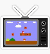 8-Bit Retro TV Sticker