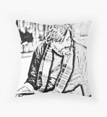 George Romero Portrait--On Location Throw Pillow