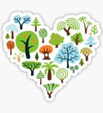 Green Tree Love Sticker