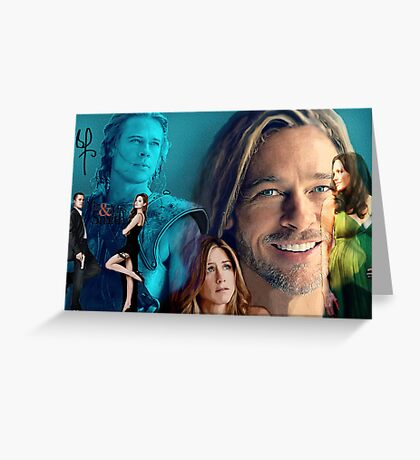 Brad Pitt Greeting Card
