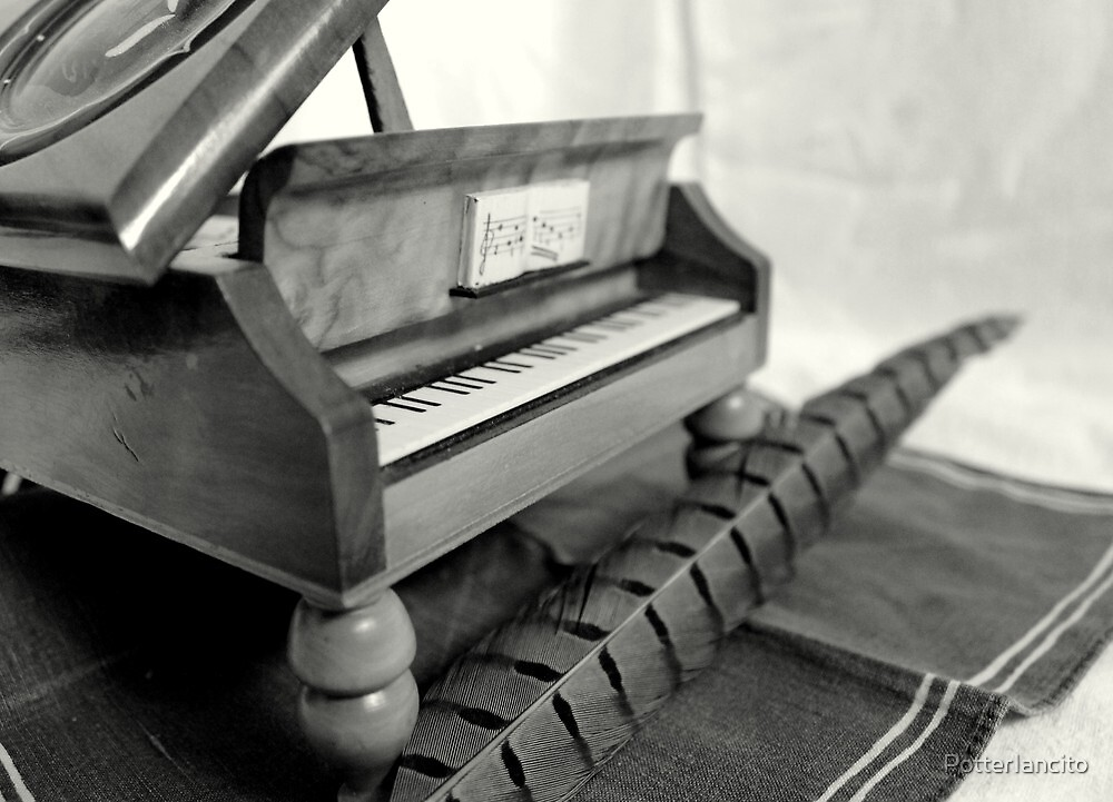 Piano and quill by PotterIancito
