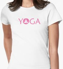 Yoga Meditate V3 Womens Fitted T-Shirt