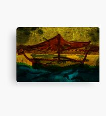 An ancient ship Canvas Print
