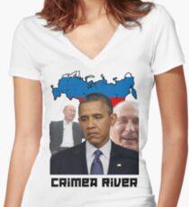 Crimea River - Inspire by Crimea Women's Fitted V-Neck T-Shirt