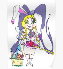 Easter Nymph Cartoon Poster
