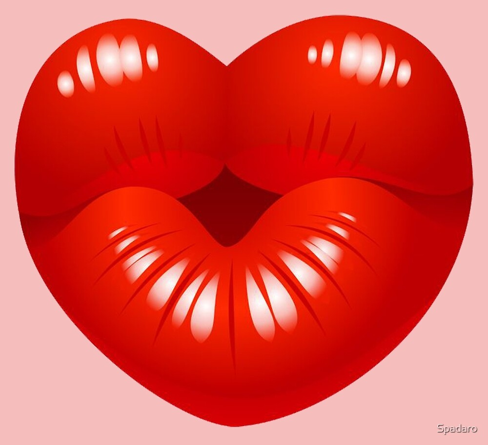 Heart Kiss Cool Kids Clip Art by Spadaro