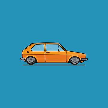#19 VW Golf by brownjamesdraws