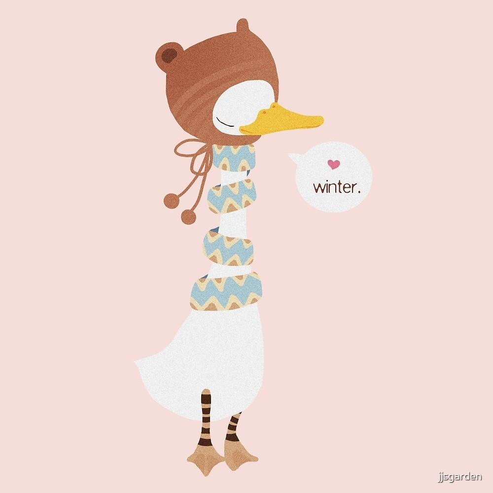 Winter baby goose by jjsgarden