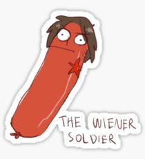 wiener soldier Sticker