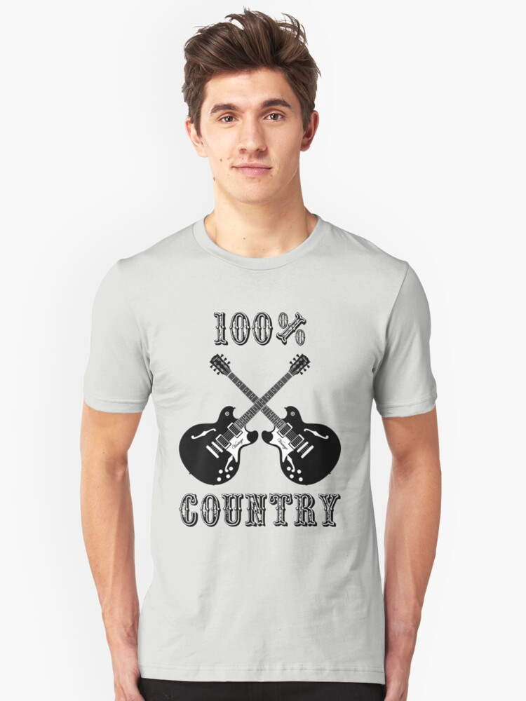 100% Country Music Unisex T-Shirt Front
