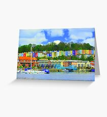 Bristol skyline in big colour  Greeting Card