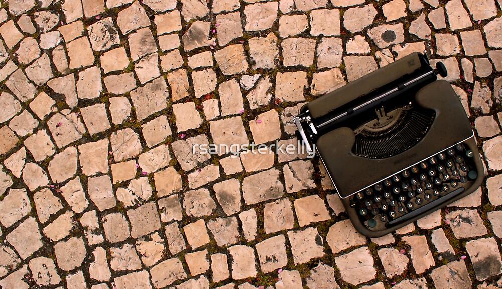 Typewriter in Lisbon  by rsangsterkelly