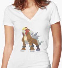 Entei T-shirt - Pokemon Women's Fitted V-Neck T-Shirt