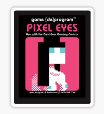 Pixel Eyes Atari Cartridge Sticker