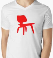 Eames Lounge Chair Wood Mens V-Neck T-Shirt