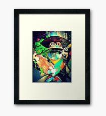 Hip Froggy Went a Courtn' Framed Print