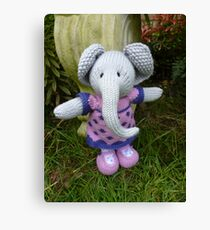 Hand knitted Girl Elephant Canvas Print