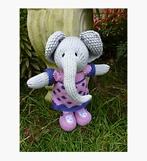 Hand knitted Girl Elephant Photographic Print