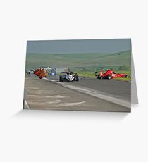 Motor Sports Mishap Greeting Card
