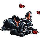French Bulldog Ladybug by offleashart