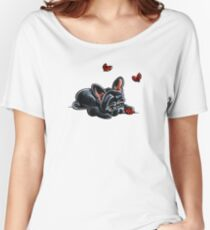 French Bulldog Ladybug Women's Relaxed Fit T-Shirt