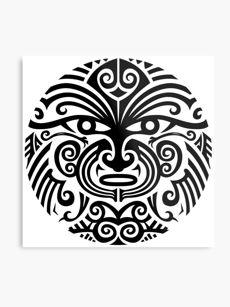 60bbb5c5f Maori tattoo face - white