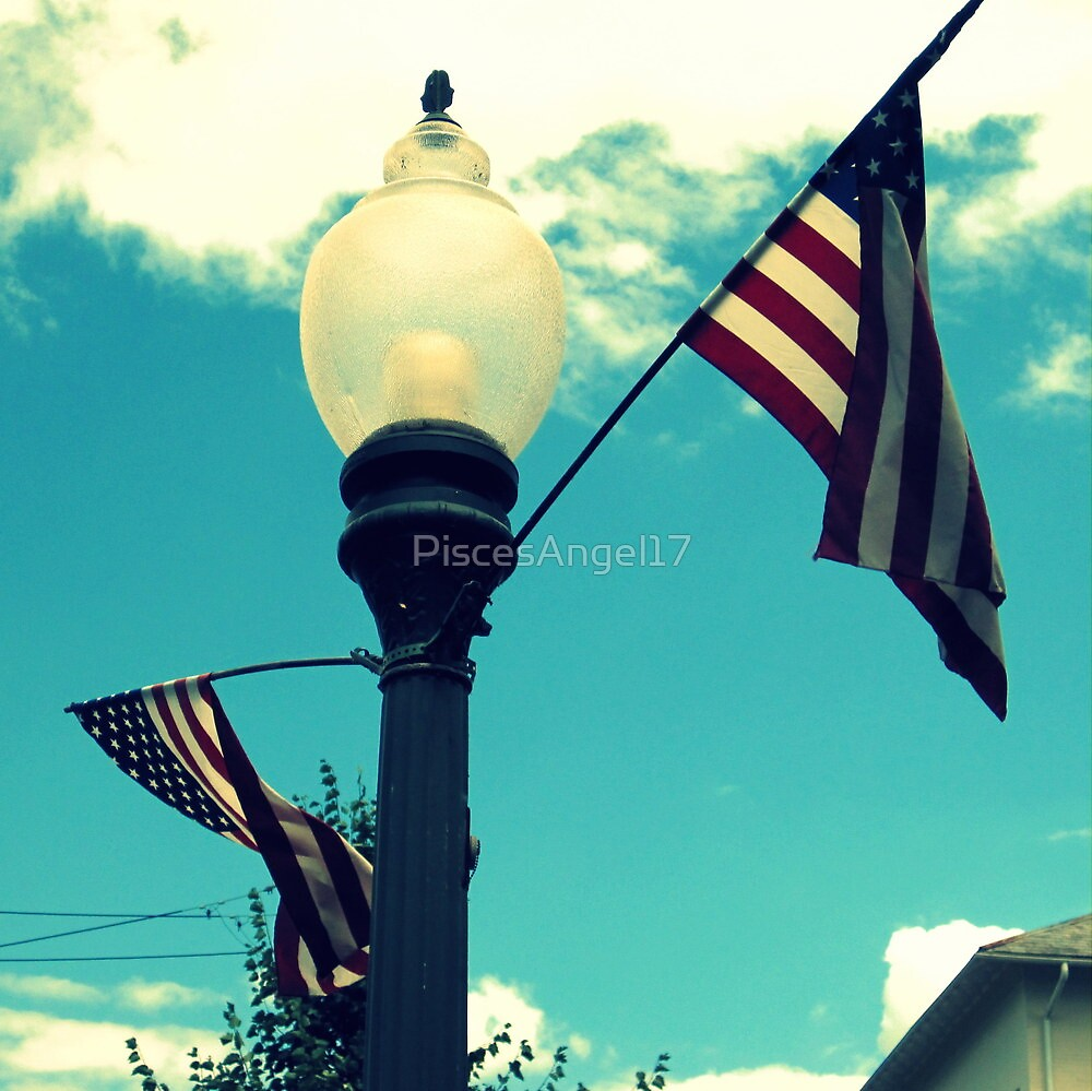 Hip Red, White, and Blue Skies by PiscesAngel17