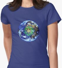 Earth Flower - 19 Year Cycle Womens Fitted T-Shirt